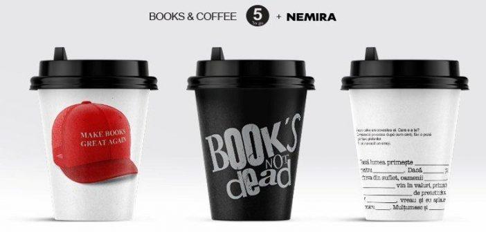 Nemira – 45.000 de pahare din cafenelele 5 To Go promovează plăcerea lecturii de Ziua Cărții