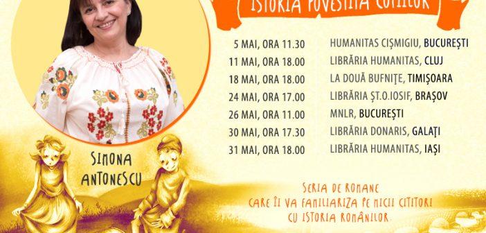 Scriitoarea Simona Antonescu în turneu de promovare a seriei Istoria povestită copiilor
